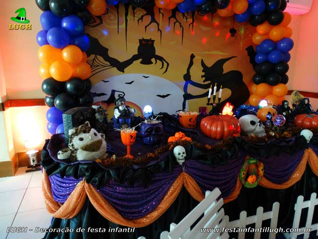 Decoração Halloween - Mesa temática luxo