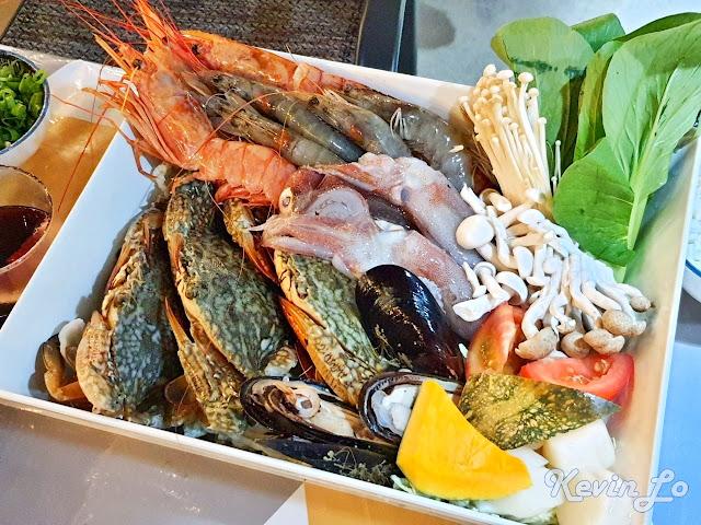 拉波波村營區海鮮食材