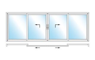 Nowy wymiar drzwi przesuwnych – Schüco ThermoSlide w wersji czteroskrzydłowej