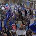 Big demonstrations in Britain