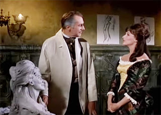 Vincent Price and Nancy Kovack in Diary of a Madman (1963)