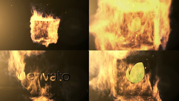Qube Fire Logo Reveal[Videohive][After Effects][9491331]