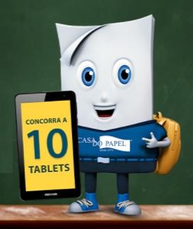 Cadastrar Promoção Casa do Papel 2021 Volta às Aulas Mega Feirão - 10 Tablets Positivo Twist