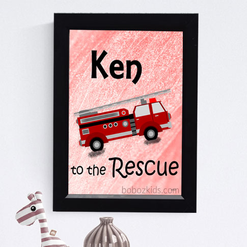 Fireman Themed Baby and Kids Wall Frame, Wall Art in Port Harcourt, Nigeria