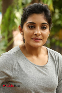 Actress Niveda Thomas Pictures in Black Jeans at Gentleman Movie Interview  0003