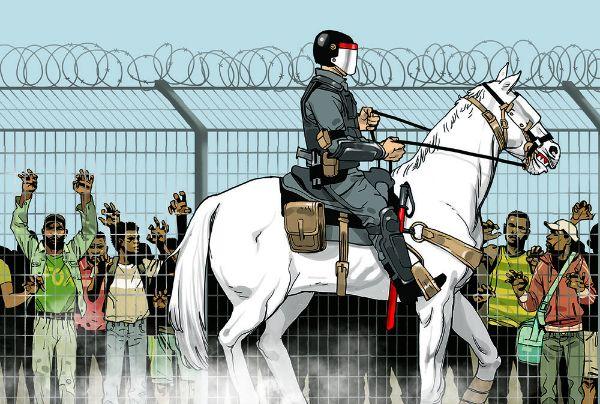 Asaf Hanuka - Illustration Design - Riot Police