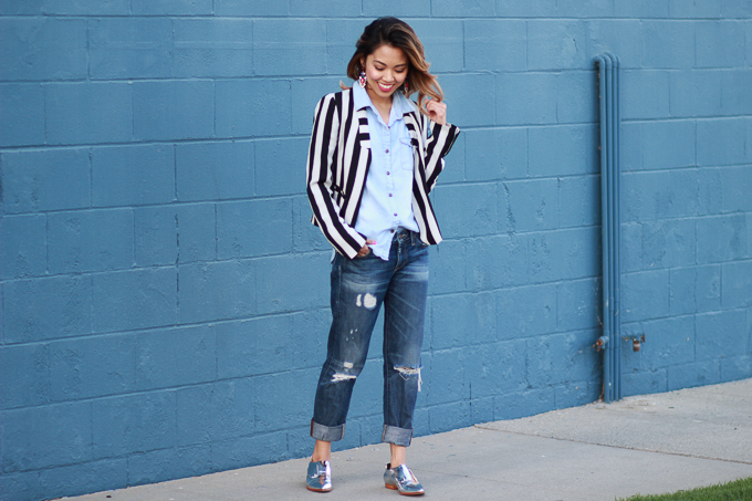 styling boyfriend jeans for spring