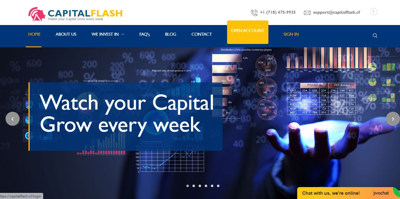 CapitalFlash home page