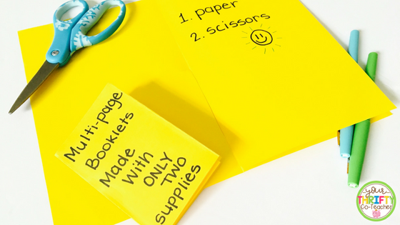 Here are a couple of thrifty, easy-to-make, multiple page booklets that will save you not only money, but time in the classroom. The only materials you need to make these booklets are paper and a pair of scissors.