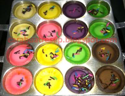 Foto Resep Kue Cubit Pelangi Rainbow Sederhana Sepsial Asli Enak
