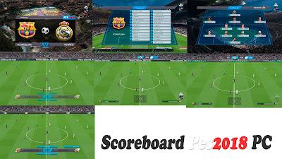 PES 2018 Lite & Simple Scoreboard v0.2a by CgM2k7