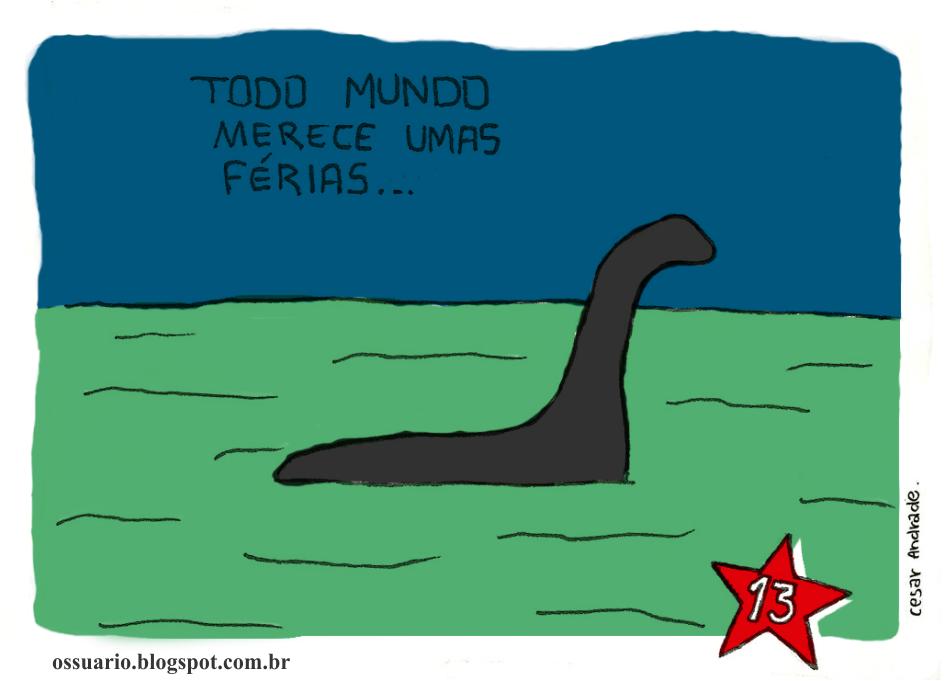 charge sobre férias da Dilma