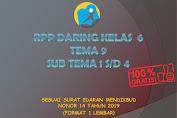 RPP Daring Kelas 6 Tema 9 Subtema 1, 2, 3, 4 Semester 2