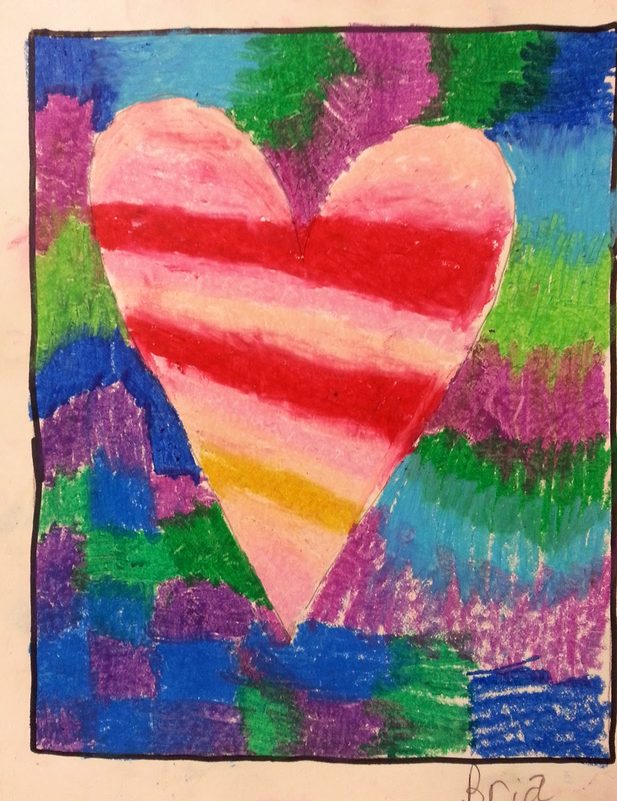 Super Easy Valentine Art Lesson With Oil Pastels Oc Art Studios