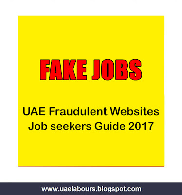 promise you lot scatter joy in addition to happiness wherever you lot become all  UAE Fake Jobs Guide (2017)