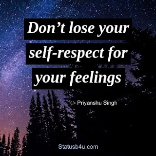 Best Self-Respect Status in English