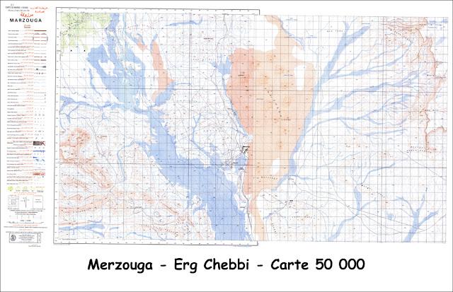 Carte Erg Chebbi - 50 000