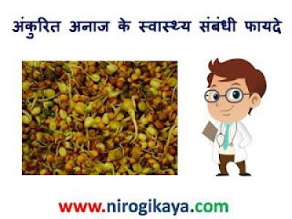Health benefits of Sprouted grains in Hindi