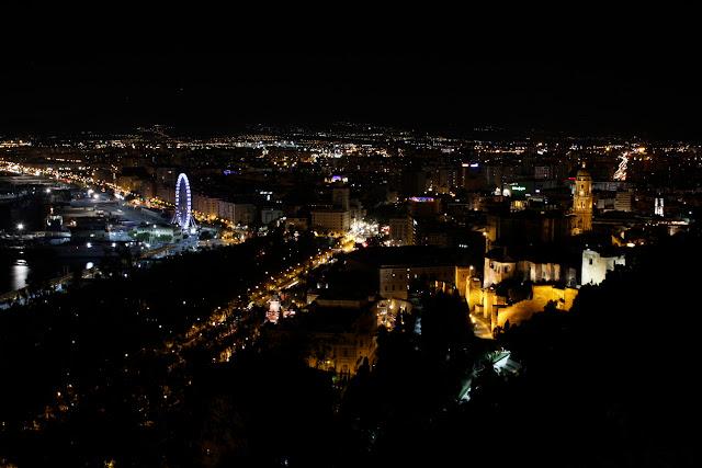 Vistas desde el mirador del Gibralfaro de Málaga