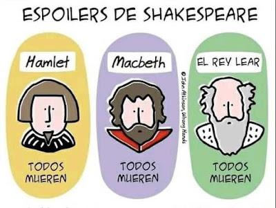 Meme de humor sobre Shakespeare