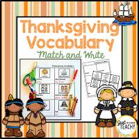 Thanksgiving Vocabulary Match & Write