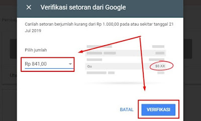 Verifikasi Setoran Dari Google