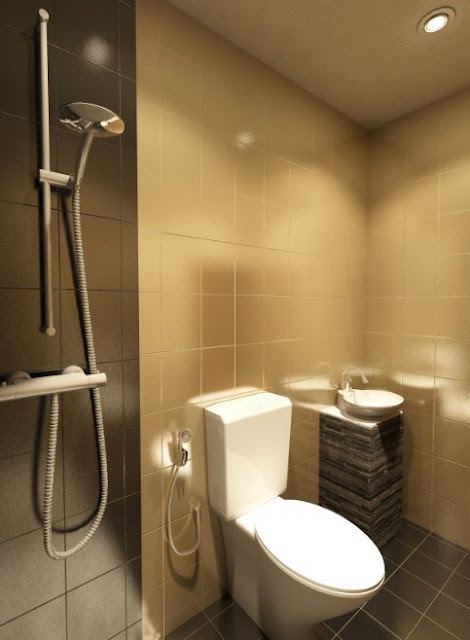 desain kamar mandi minimalis tapi kelihatan mewah 2x2