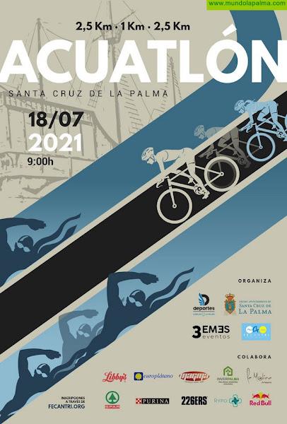 Santa Cruz de La Palma abre la inscripción para las pruebas de triatlón y acuatlón previstas en julio