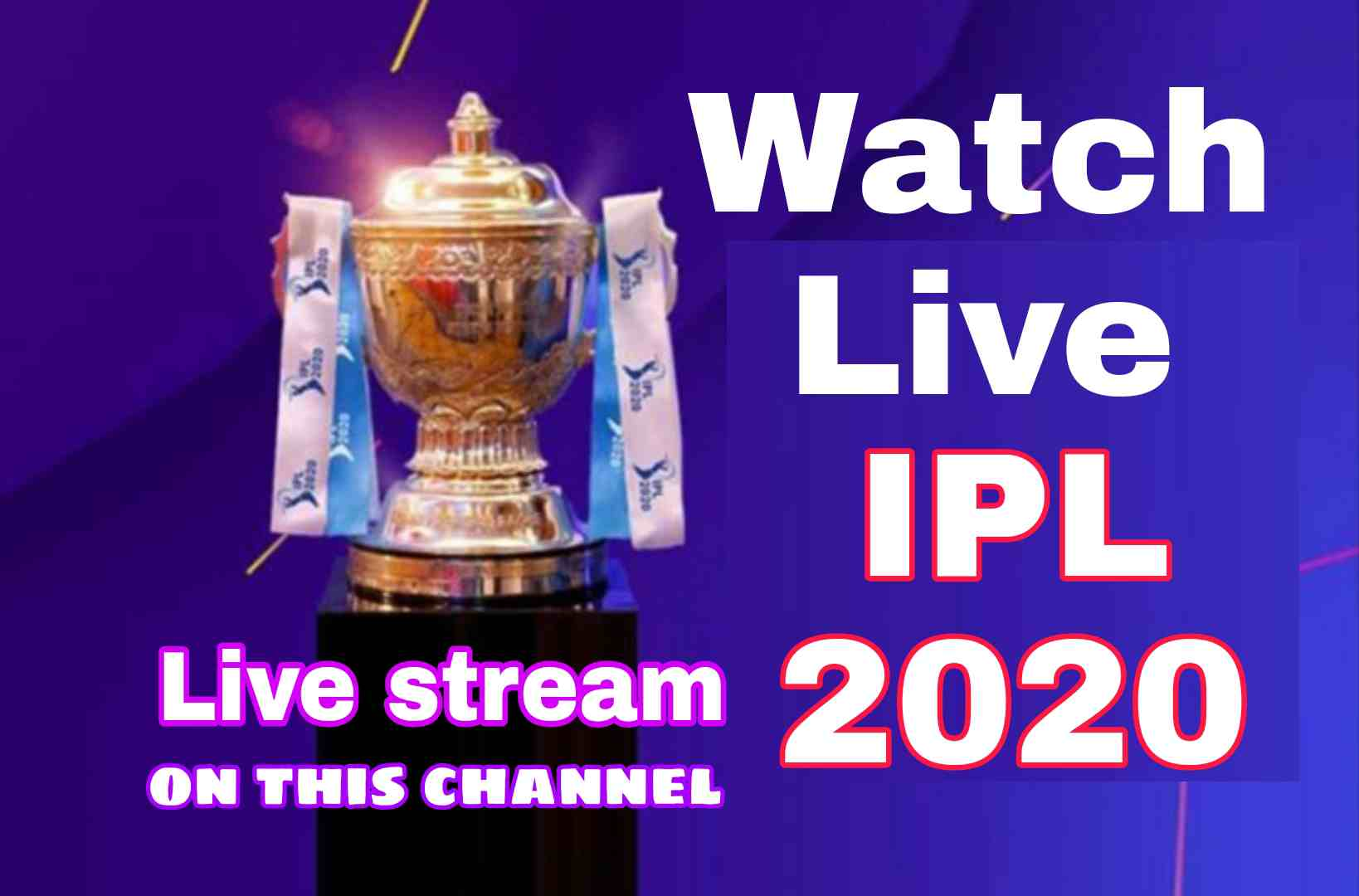 IPL 2020 live telecast channel list