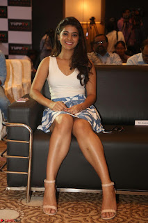 Yamini in Short Mini Skirt and Crop Sleeveless White Top 135.JPG