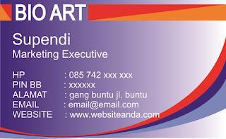 Download 7 Desain Template Kartu Nama Marketing CDR