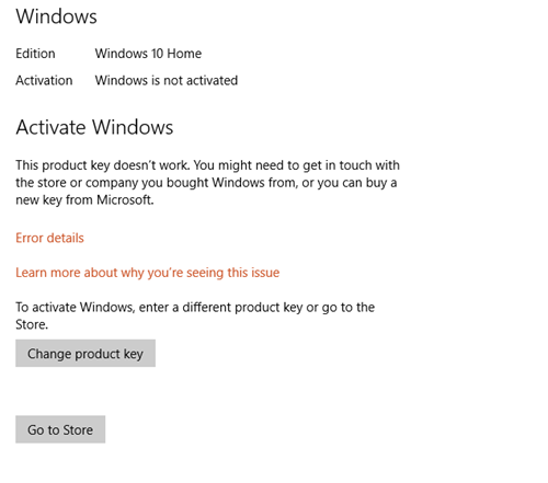 What can we do when having troubles with activating Windows 10 process?