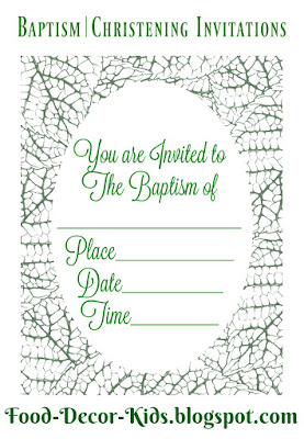 Baptism Invitation|Christening Invitation