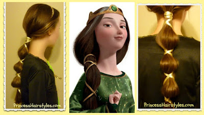 Disney's Queen Elinor hair tutorial, from Brave