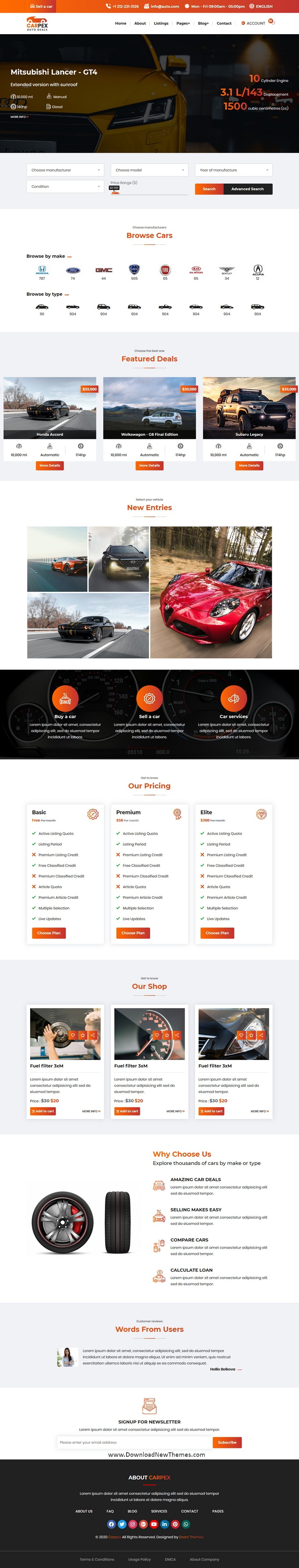 Auto Deals Website Template