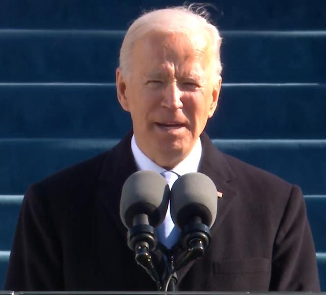 President Joseph Robinette Biden Jr. Inauguration speech address January 2021 United States of America hair
