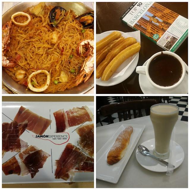 comidas e bebidas em Barcelona e Valencia