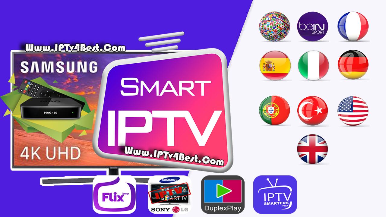 Smart IPTv Subscription IPTV Premuim 4K  Ultra HD +6000 List Free and Paid