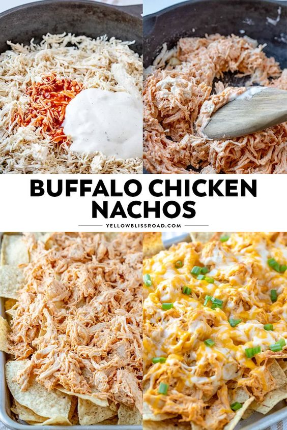 These Buffalo Chicken Nachos are so easy to make and are sure to be a crowdpleaser!