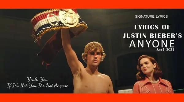Justin Bieber Lyrics - Anyone