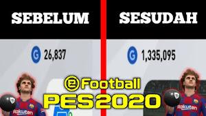 Cara mulung GP cepat di PES 2020 mobile