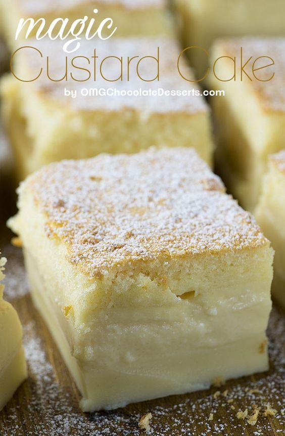 Vanilla Magic Custard Cake #vanilla #magic #custard #cake #cakerecipes #dessert #dessertrecipes #easydessertrecipes