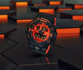 Casio G-SHOCK Debuts New Men's GA700 Model With Bright Red Accents