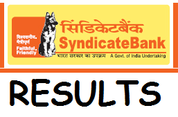 Syndicate Bank PO Results 2016