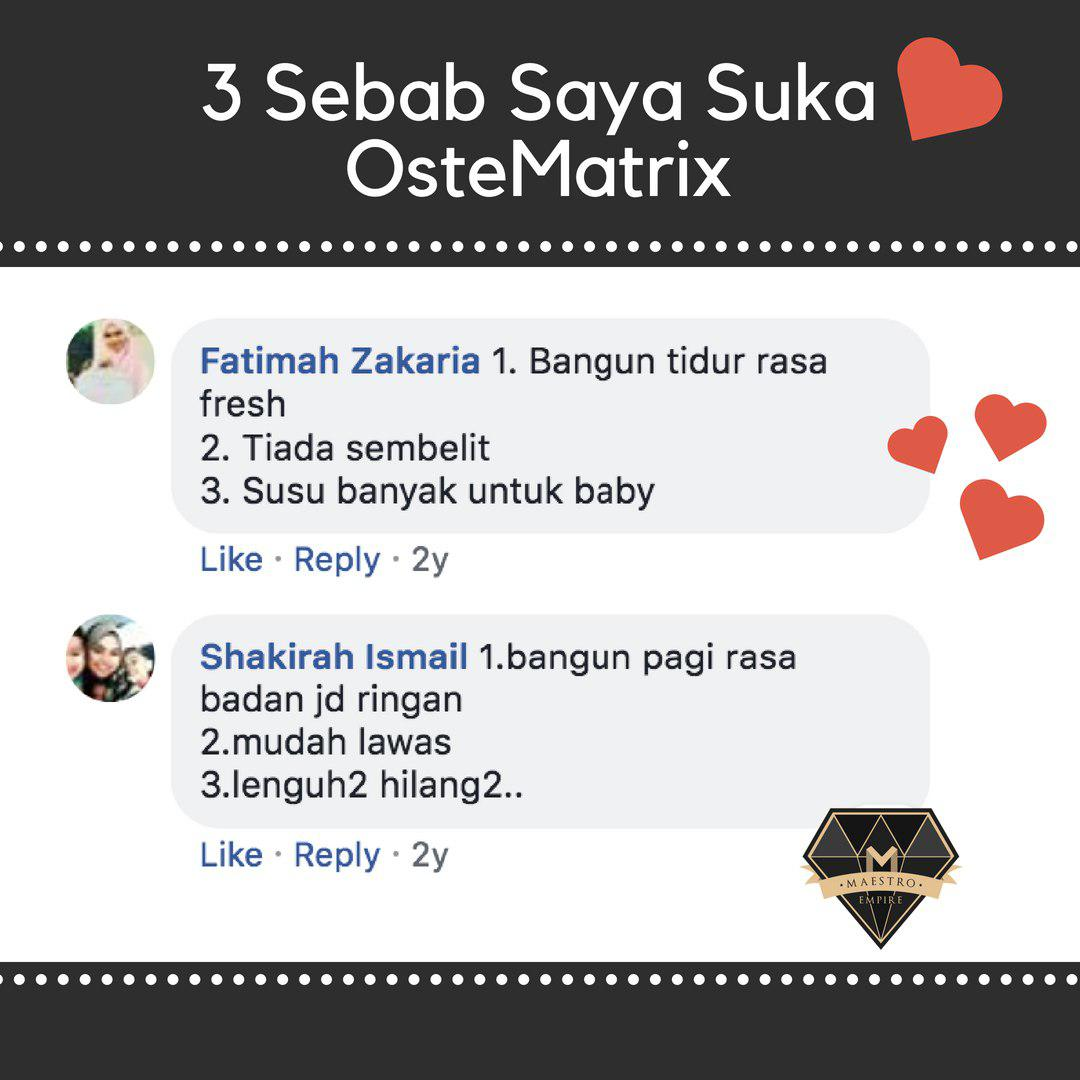 3 Sebab Saya Suka Ostematrix Shaklee