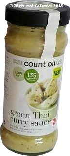 M&S count on us cooking sauce Green Thai Curry
