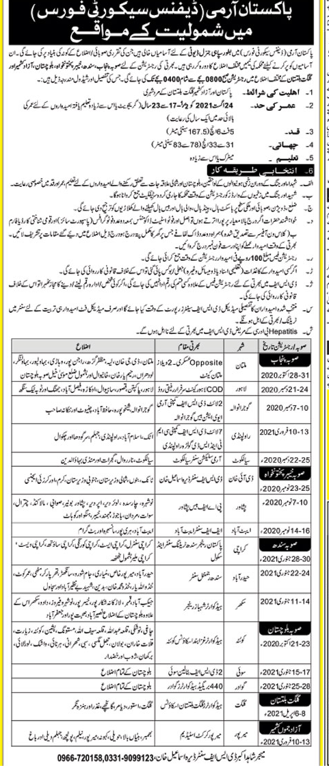 Defence Security Force Jobs 2021