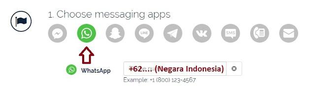 pilih widget whatsapp