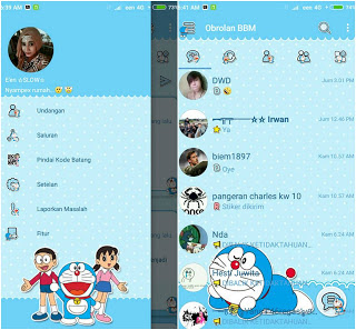 BBM MOD Doraemon Standart Tapi Keren v3.2.0.6 APK