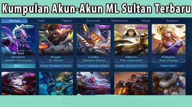 Akun ML Sultan Gratis